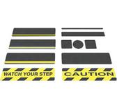 "Black Gator Grip Anti-Slip Cleats 6"" x 30"" 50 cleats/pk"