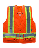 FR Hi-Vis Journeyman Surveyor Safety Vest - CSA, Class 1 - Viking 3995FRO
