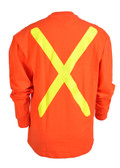 Hi-Vis 100% Cotton Long Sleeve Safety Shirt - OSHA - Viking 6016O_back