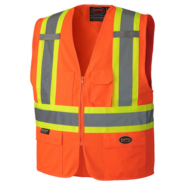 Hi-Vis Safety Vest w/ Front Zipper - CSA, Class 2 - 156 Pioneer