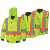 Hi-Vis 6-in-1 Insulated Safety Bomber | CSA, Class 2 | Pioneer