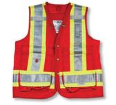 Hi-Vis Polyester Surveyor Safety Vest - CSA - Big K - BK402_RED