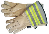 Hi-Vis Leather Utility Glove - Thinsulate - SSC1112 - Beige