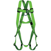 Hi-Vis Full Body Compliance Harness - 1D, Class A - PeakWorks - Hi-Vis Green