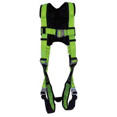 Hi Vis Full Body PeakPro Harness - 1D, Class A - FBH-60110A - Green