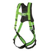 Hi-Vis PeakPro Full Body Harness - 2D Class AL- FBH-60110L - Green