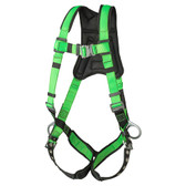 Hi Vis PeakPro Full Body Harness with Grommetts - 3D,Class AP -FBH-60120B - Green