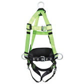 Hi-Vis Contractor Harness & Positioning Belt with Grommet Leg Straps - 3D, Class AP - FBH10020A1020