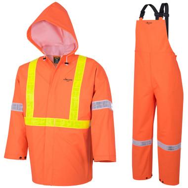 Hi-Vis FR Element Series 3-Piece Rain Suit - CSA, Class 2 - RanPro  Orange R85