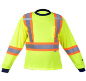 Hi-Vis Cotton-Lined Safety Shirt - CSA, Class 2 - Viking 6015G