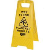 Wet FloorA-Frame Safety Sign - Bilingual - SCN - JD391