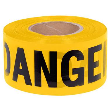 "Black on Yellow ""Danger"" Barricade Tape - 1,000 Ft - Pioneer - 384"