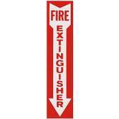 "Self-Adhesive Vinyl Fire Extinguisher Arrow Sign - 4 x 18"" - RS Steel - BL109"