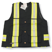 Cotton Supervisor Safety Vest with Polyester Full Mesh Back