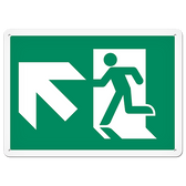 FIRE SIGNS - Running Man Sign   Exit Up Left