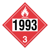 Flammable Liquid | Class 3 Placard
