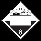 Corrosive | Class 8 Placard