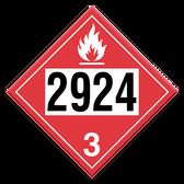Flammable Liquid, Corrosive | Class 3 Placard