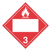 Flammable Liquids | Class 3 Placard