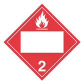 Flammable Gases | Class 2.1 Placard