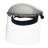 Single Crown Face Shield with Window & Ratcheting Headgear   Sellstrom