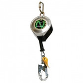 "3/16"" Stainless Steel Cable w/ Carabiner, Swivel Top, Snap Hook & Tag Line (20') 