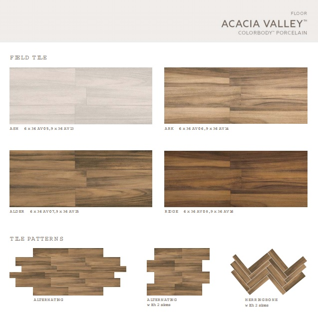 Acacia Valley Alder HD Porcelain TruEdge Bullnose X Tiles - Bullnose tile sizes