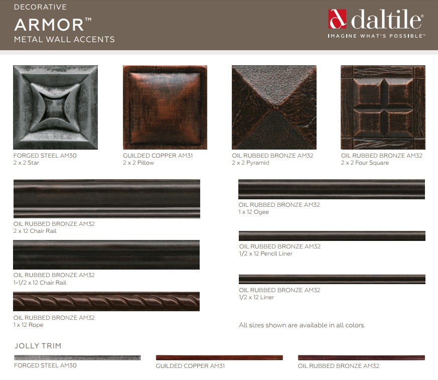 TilesDirect - Decorative Metal Wall Accents By Daltile