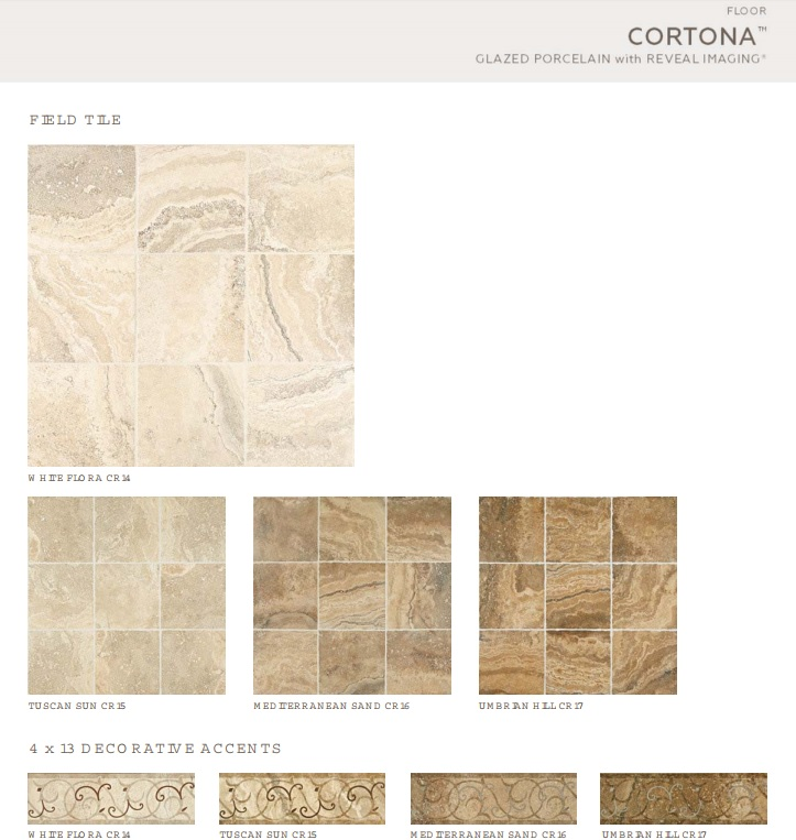 Cortona Collection Mediterranean Sand Porcelain X Tiles - Daltile cortona