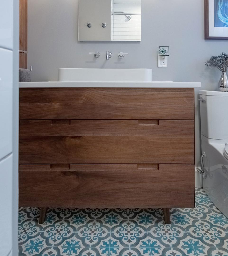 Mid-Century Modern Bathroom | Pitman, NJ | SG23 Designs