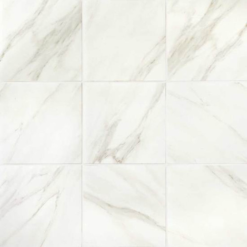 Mirasol Bianco Carrara Matte Floor Tile 12x12 Tiles Direct Store