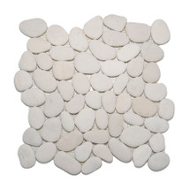 Timor White Pebbles 12X12