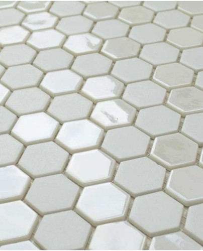 Glass Onix Hexagon Pearl 13x13 Mosaic