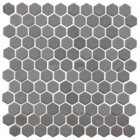 Glass Onix Hexagon Pewter 13x13 Mosaic