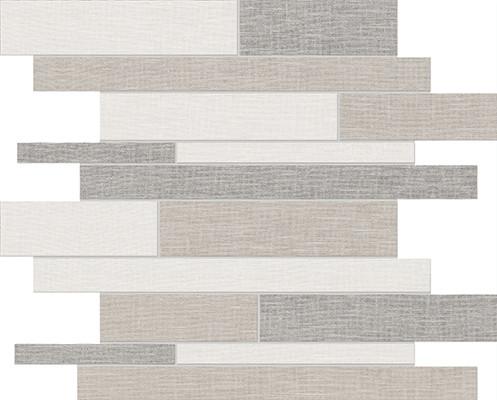 Belgian Linen Light Blend Random Strip Hd Mosaics Tiles
