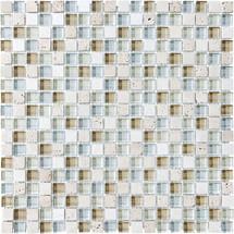 "Spa Glass Stone Blend Mosaics 5/8"" x 5/8"""