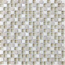 "Cr̬me Glass Stone Blend Mosaics 5/8"" x 5/8"""