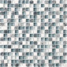 """Waterfall Glass Stone Blend Mosaics 5/8"""" x 5/8"""""""