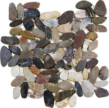 Zen Bora Wilderness Flat Polished Pebble Mosaics 12x12