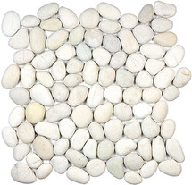 Serenity Ivory Natural Pebble Mosaics 12x12