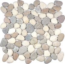 Harmony Warm Blend Natural Pebble Mosaics 12x12