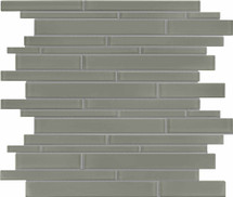 Element Smoke Random Strip Glass Mosaics (35-059)