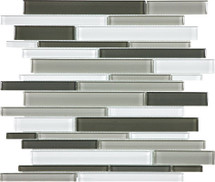 Element Mineral Blend Random Strip Glass Mosaics