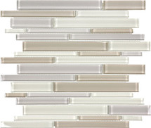Element Natural Blend Random Strip Glass Mosaics