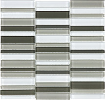 Element Mineral Blend Straight Stacked Glass Mosaics