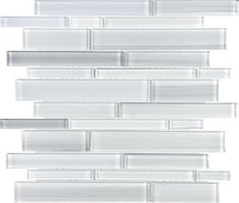 Fusion Ice Random Strip Glass Mosaics
