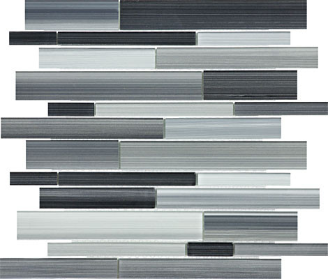 Fusion Carbon Random Strip Glass Mosaics