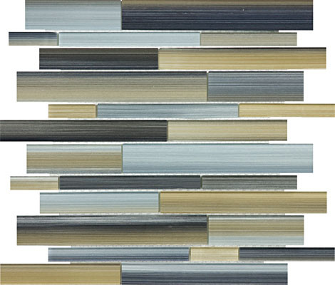 Fusion Oxide Random Strip Glass Mosaics