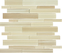 Fusion Sand Random Strip Glass Mosaics