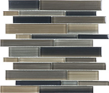 Fusion Rock Random Strip Glass Mosaics